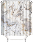 Yeacun Marble Bathroom Shower Curtain 72 X 72, Grey And White Shower Curtains