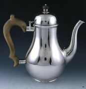 Antique 1920 And Co Georgian Style Sterling Silver Tea Coffee Pot 8 1/2