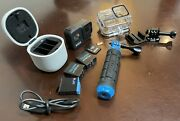 Gopro Hero 8 Black 4k Camera, Charger/3 Batteries, 64g, Protective Housing+more