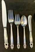Royal Danish Sterling Silver 4 Settings 20 Pieces Standard Size And 6 Servers
