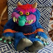 Vintage My Pet Monster Plush With Handcuffs 1986 Amtoy American Greetings