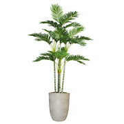 Vintage Home Dandeacutecor Green Emerald Artificial Faux Palm Tree With With Fibersone