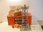 Rare Postwar Lionel 394 Rotary Beacon- Silver Painted Steel- Ob And Beacon Andinst