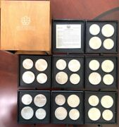1976 Silver Canadian Montreal Olympic Games 28 Coin Set 30 Oz Silver