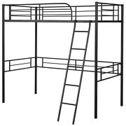 Metal Loft Twin Bed Frame Single Twin Size High Loft Bed With Guard Rail Home