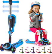 Skidee Kick Scooters For Kids Ages 3-5 Suitable For 2-12 Year Old Adjustable H