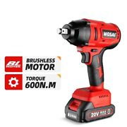 Electric Impact Wrench 20v Brushless Motor Rechargeable Cordless Power Tools