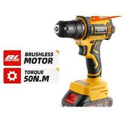 Electric Drill 20v Brushless Motor Cordless Screwdriver Woodworking Power Device