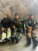 Huge 12 Inch Gi Joe Hasbro Action Figures Lot W/ Accessories, Guns And Clothes