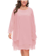Plus Size Women's Chiffon Dress Mother Of The Bride Dresses With Jacket