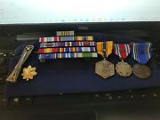 Usaf Command Missile Operations Badge Sterling Silver 3 Medals - 13 Ribbons