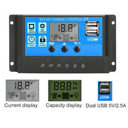 60a Pwm Solar Panel Regulator Charge Controller Auto Focus Tracking 12v/24v