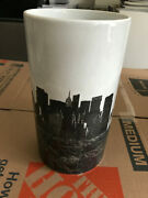 Andy Warhol Rosenthal Empire Central Park Nyc Porcelain Large Black And White Vase