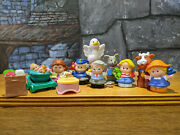 Fisher Price Little People Lot Of 13 Family Baby Kid Mother Animals Cow Duck