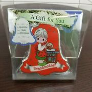 Precious Moments Christmas Ornament A Gift For You Grandmother You Write On 2014