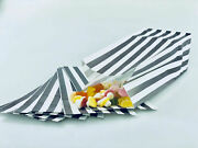 Striped Sweet Party Bags Candy Paper Stripe Gift Bag Shop Popcorn 3x4x9.5'' Mix