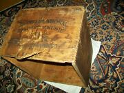 Wood Vintage/antique Box Shipping Crate Music Storage Shelf Twine Rope Handles