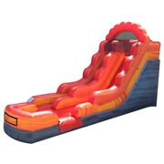 Commercial Inflatable Water Slide Jumper Kids Fire Marble 13ft Slide With Blower