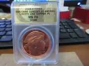2008 20 Ameros Pattern By Daniel Carr Copper Medal Anacs Proof Ms 70 Dcam
