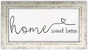 Arkeny Farmhouse Wall Decor Hanging Art Home Sweet Home Sign Rustic Framed Canva