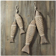 Wooden Fish Decor Hanging Wood Fish Decorations For Wall Rustic Nautical Fish D