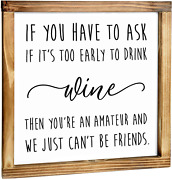 Wine Amateur Sign - Rustic Farmhouse Decor For The Home Sign -wine Decor For Kit