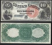 10 1880 Usn Fr 106==jackass==large Seal=iconic Design ==choice Uncirculated