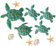 10 Pieces Sea Turtle Wall Decoration Starfish Ornaments Shell Wall Ornaments For