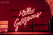 Mirsne Hello Gorgeous 17 By 14 Neon Signs, Glass Tube Neon Open Sign, Custom M