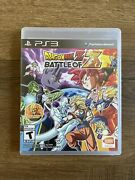 Dragonball Z Battle Of Z Playstation 3 Ps3 Game - Mint - Complete - Free Ship