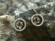 Welsh Clogau 18ct White And Rose Gold Tree Of Life Diamond Earrings Andpound1250 Off