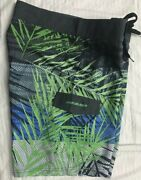 Nwt Pipeline Mens Board Surf Shorts Swimsuit 34 4-way Stretch S20004mb Blue