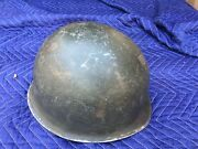 Ww2 M1 Helmet 155th Infantry Stand Fast Code Of Arms On The Inner Liner