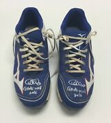 Wilson Contreras 2016 Game Used Chicago Cubs Baseball Cleats World Series Signed