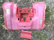 2005 Honda Rancher 400 Rear Fender Red Plastic With Battery Cover Strap