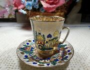 Lomonosov Porcelain Old Russian Architecture Demitasse Cup And Saucer