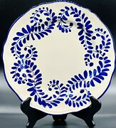 Vintage Artistica Italy Cobalt Blue 11andrdquo Wall Plate Mint