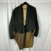 Antique 1890s Tailcoat And Vest Jacket Comstock Load Mining