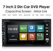 Double 2din In Dash Sony Cd Lens 7car Stereo Radio Cd Dvd Player Aux Bt Mp3