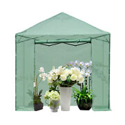 8x6ft 8x8ft Foldable Greenhouse Shed Walk-in Outdoor Planter Green House Garden