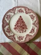 Johnson Brothers Old Britain Castles Pink Christmas Dinner Plate Made In England