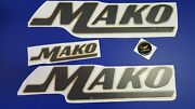 Mako Boat Emblems 19 Gold Black + Free Fast Delivery Dhl Express - Raised Decal