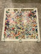 Marvel Universe Poster 50 X 50 Original Sign By Stan Lee