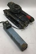 Vintage Japan Modern Toys Battery Operated Tin Toy Military Tank M-71