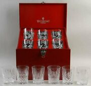 New Waterford Crystal 12 Days Of Christmas Double Old Fashioned Glasses
