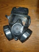 Small Avon M50 Gas Mask With 2 Filters
