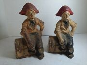 Vintage Hubley Treasure Chest Pirate Nautical Cast Iron Bookends