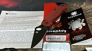 Spyderco St. Nickand039s Knives Exclusive Paramilitary 2 Red G10 Cpm-4v C81gprdbk2