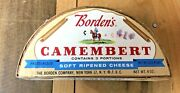 Vintage Wood Box Rare Military Horse Bordens Camembert Cheese Container 4 Oz Sz
