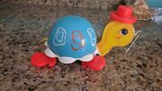 Vintage 1962 Fisher Price Pull Along Toy - Tip Toe Turtle